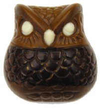 Belgian Milk Chocolate Owl